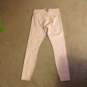 High waisted baby pink leggings